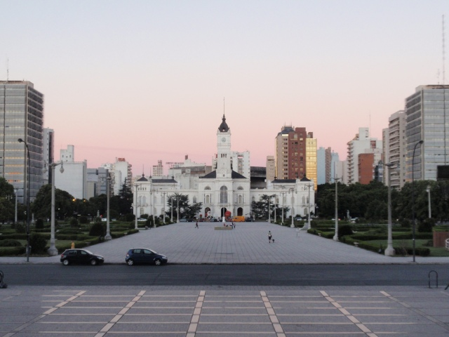 Plaza Moreno and the City Hall of La Plata, Argentina